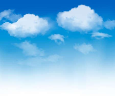 Illustration pour Blue sky with clouds - image libre de droit