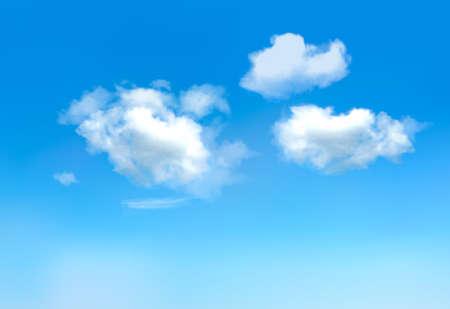 Illustration pour Blue sky with clouds.Vector - image libre de droit