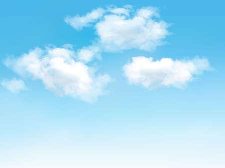 Illustration pour Blue sky with clouds. Vector background  - image libre de droit