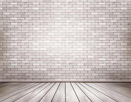 Illustrazione per White brick room. Vector. - Immagini Royalty Free