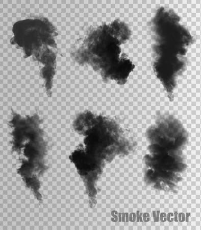 Ilustración de Smoke vectors on transparent background. - Imagen libre de derechos