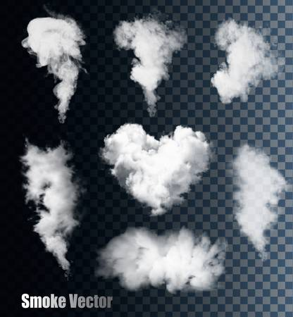 Illustration for Smoke vectors on transparent background. - Royalty Free Image