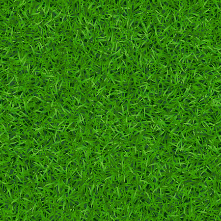 Illustration pour Green grass seamless pattern. Background lawn nature. Abstract field texture. Symbol of summer, plant, eco and natural, growth. Meadow design for card, wallpaper, wrapping, textile Vector Illustration - image libre de droit