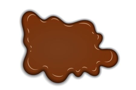 Ilustración de Chocolate sweet splash. chocolate liquid blot isolated white background. Abstract shape dessert spot. 3D realistic design element. Food decoration. Milk, dark chocolate splashing Vector illustration - Imagen libre de derechos