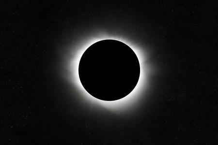 Foto de Moon eclipse. Planet with a glow. Star Field - Imagen libre de derechos