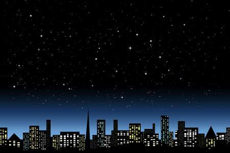 Illustration pour Night city light - image libre de droit