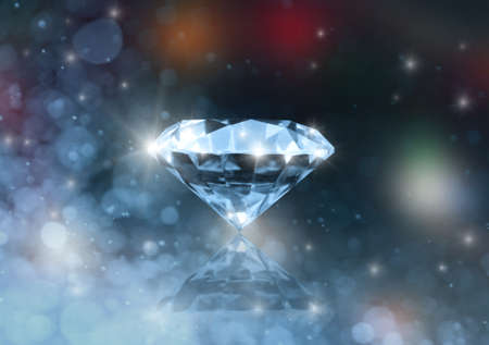 Diamond on a colored blurred background