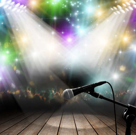Photo for Modern music concert with light effects - Royalty Free Image