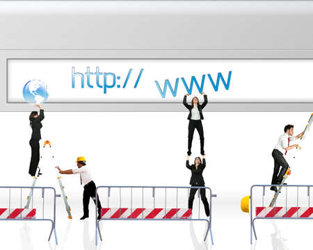 Photo pour Concept of website under construction - image libre de droit