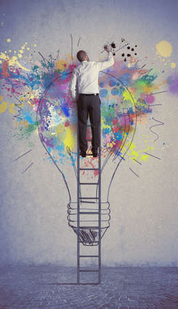 Photo pour Concept of a big creative business idea - image libre de droit