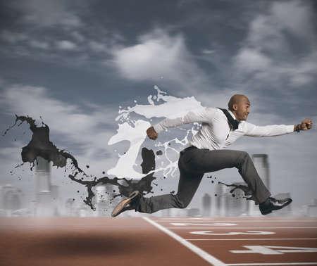 Photo pour Concept of challenge in business - image libre de droit