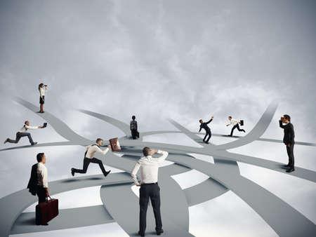 Photo pour Concept of confusion and business career - image libre de droit
