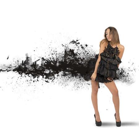 Foto de Concept of creative fashion style with motion effect - Imagen libre de derechos