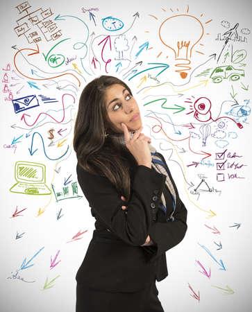 Foto de Creative business idea of a young businesswoman - Imagen libre de derechos
