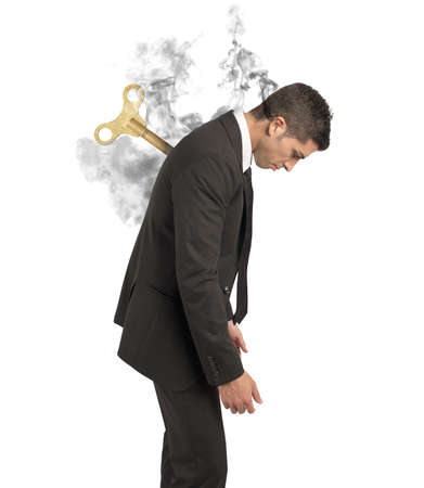 Photo pour Stress concept of a businessman at work - image libre de droit