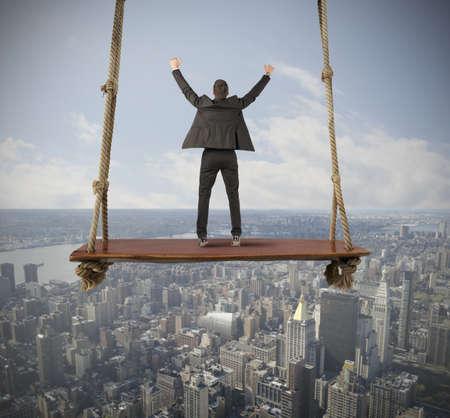 Foto de Concept of success of a young businessman - Imagen libre de derechos
