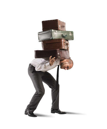 Photo for Concept of difficult career of a businessman - Royalty Free Image