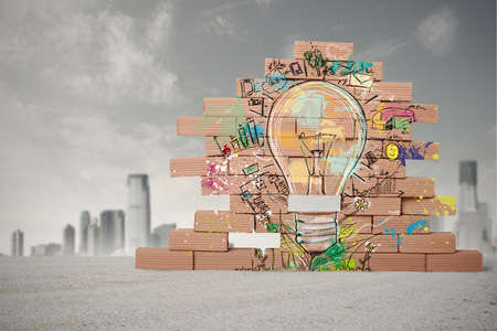 Foto de Concept of sketch of creative business idea - Imagen libre de derechos