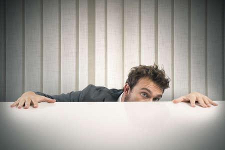 Photo pour Concept of businessman with fear of the boss - image libre de droit