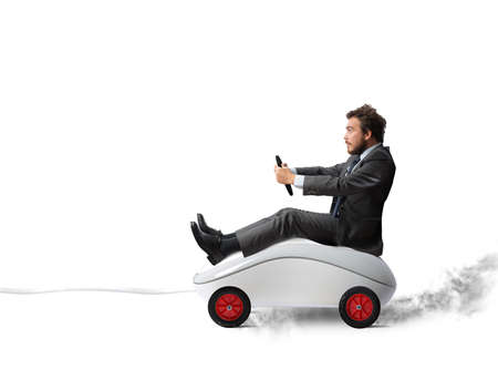 Foto per Concept of fast internet with mouse like a car - Immagine Royalty Free