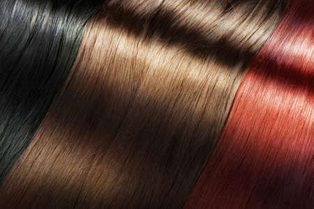 Foto de Set of different long shiny hair color - Imagen libre de derechos
