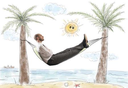 Foto de Success and relax of a dreaming businessman - Imagen libre de derechos