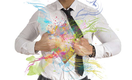 Foto de Concept of Creative business with colorful effect - Imagen libre de derechos