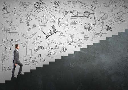 Foto de Concept of Career and ambition of a businessman - Imagen libre de derechos