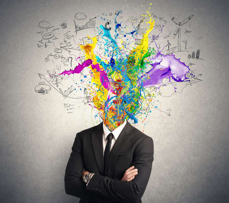 Foto de Concept of creative mind with colorful effect - Imagen libre de derechos