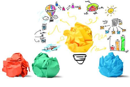 Foto de Concept of new idea and innovation concept - Imagen libre de derechos
