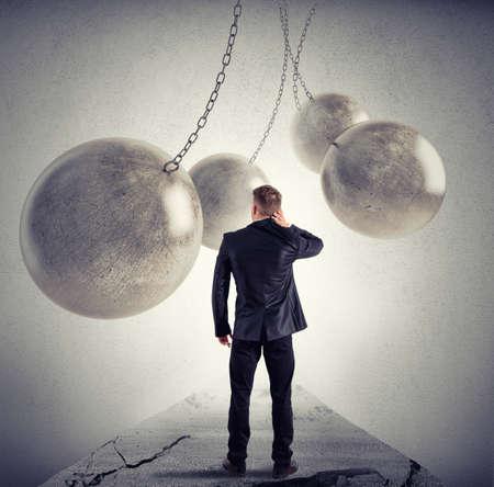 Foto de Difficult path like a videogame for a businessman - Imagen libre de derechos