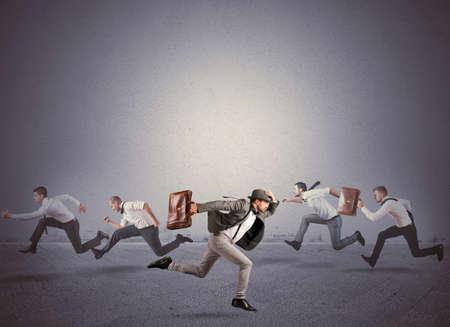 Foto de Concept of change direction and be different - Imagen libre de derechos
