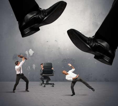 Foto de Concept of group of manager crushed by taxes - Imagen libre de derechos