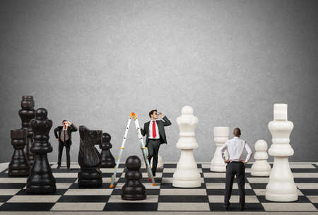 Photo for Strategy and tactics of a team of businessman - Royalty Free Image