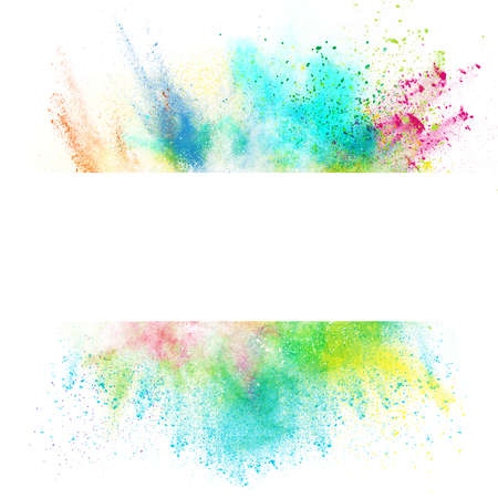 Foto de Fresh banner with colorful splash effect on white background - Imagen libre de derechos