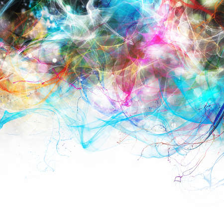 Photo for Modern abstract motion banner with white space for your text - Royalty Free Image