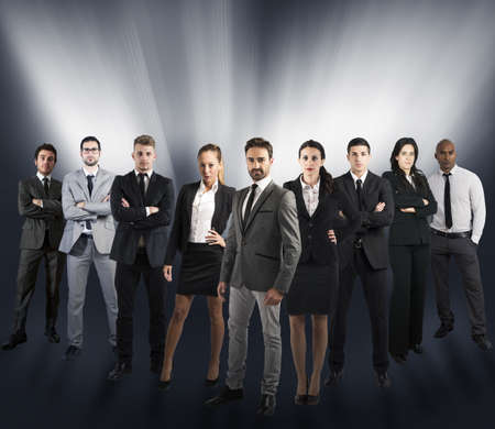 Foto de Concept of global support team with a company team - Imagen libre de derechos