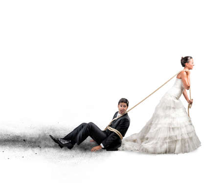 Funny concept of bound and trapped by marriage