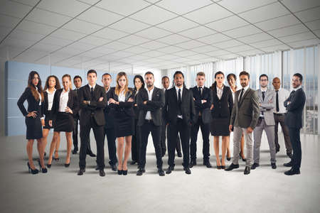 Foto de Business people working together as great team - Imagen libre de derechos