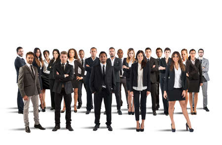 Photo pour People working together and form a team - image libre de droit