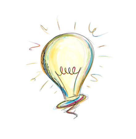 Foto de Concept of idea in a light bulb - Imagen libre de derechos