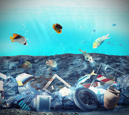Foto de Pollution in the seabed because of humans - Imagen libre de derechos