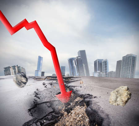 Foto de Crisis as big break economic and financial - Imagen libre de derechos