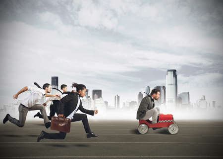 Foto de Businesspeople competing in a race for career - Imagen libre de derechos