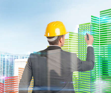 Foto de Architect designs and builds palaces in 3d - Imagen libre de derechos