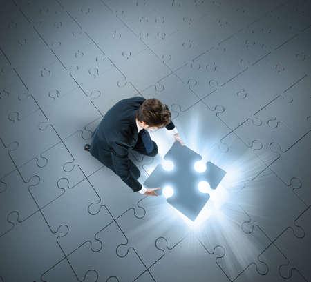 Photo pour Last missing piece of the success puzzle - image libre de droit