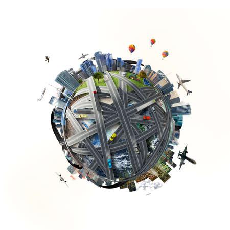 Foto de Full world of transport and trade business - Imagen libre de derechos