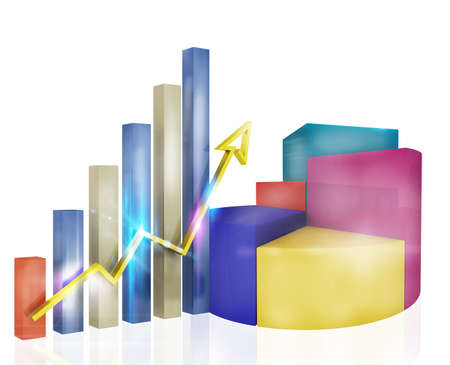 Analysis of profit with charts and statistics
