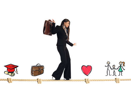 Photo pour Stages of work and life of businesswoman - image libre de droit