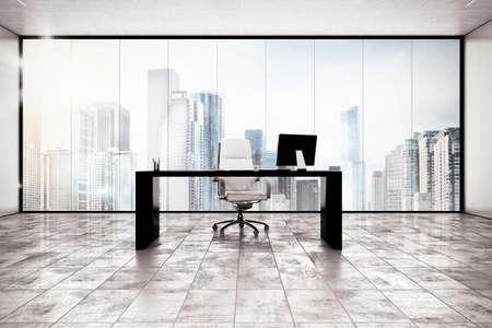 Foto de Luxury executive office with city view window - Imagen libre de derechos